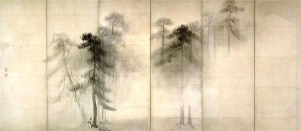 Хосэгава Тохаку. Сосны. 16 век.