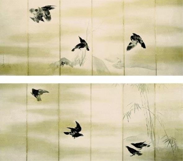 Маруяма Окё. Вороны (1733-1795).