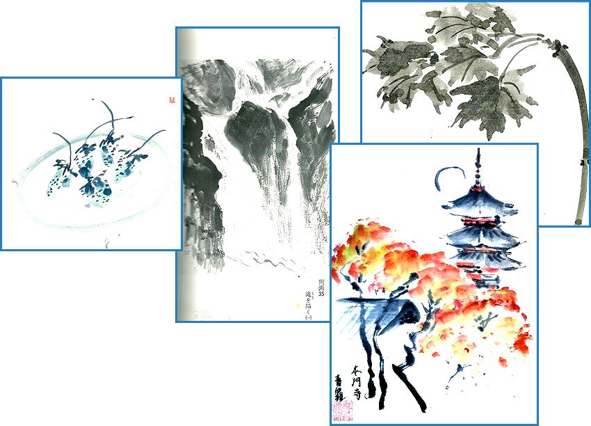 японская живопись Аверин
